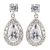 Isla Crystal Tear Drop Earrings