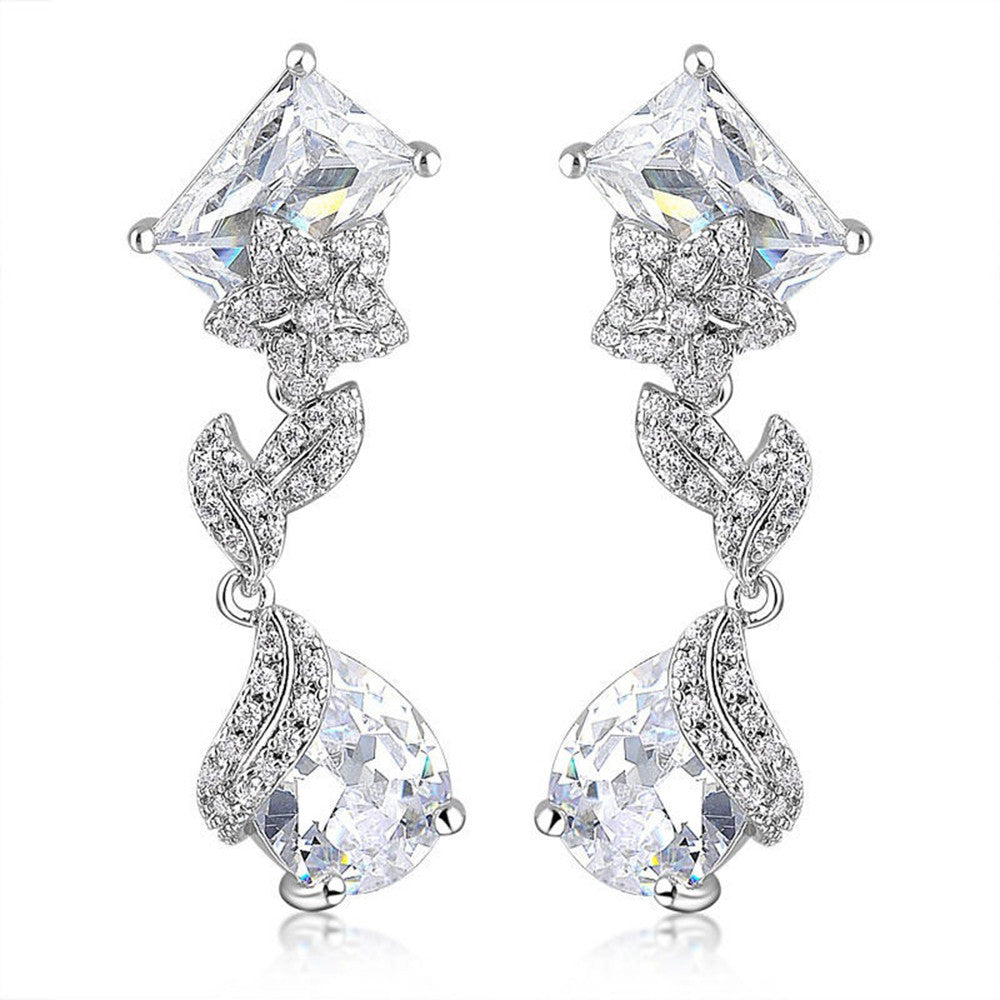 Elena Elegant Swarovski Earrings - Bella Krystal