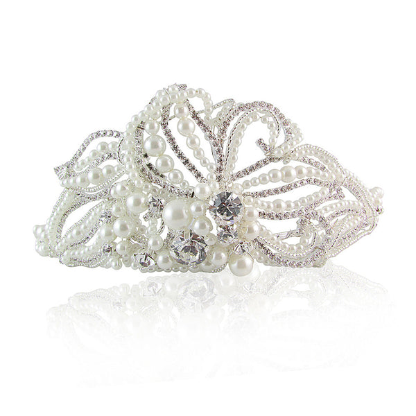 Mary Crystal & Pearl Bridal Hair Band
