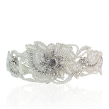 Lilly Crystal & Pearl Half-Moon Shaped Hair Comb - Bella Krystal