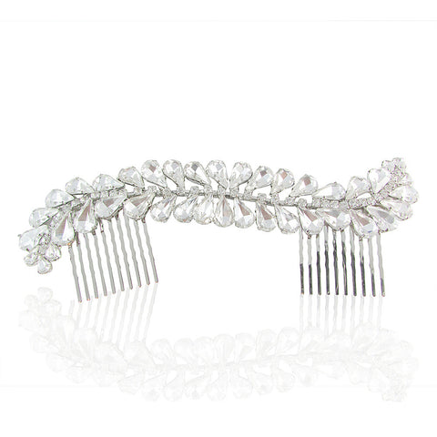 Dakota Crystal Leaf Hair Comb - Bella Krystal