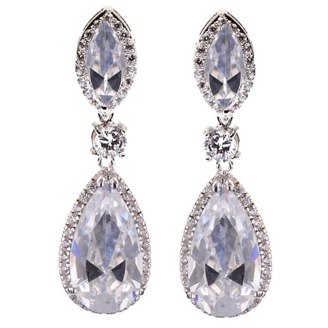 Alivia Crystal Tear Drop Earrings - Bella Krystal