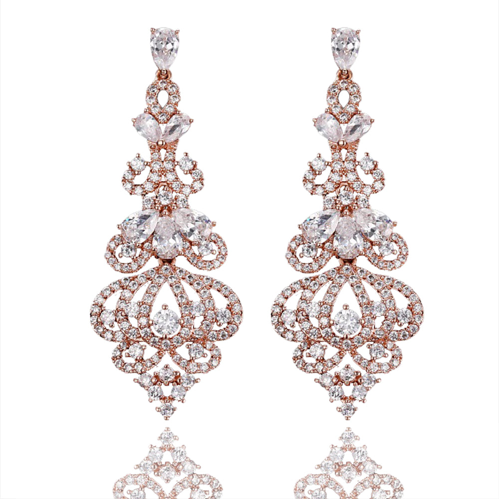 Reine Luxe Delicate Crystal Drop Earrings