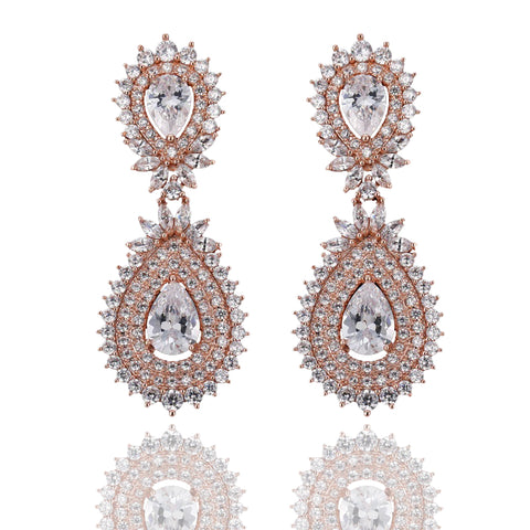 Malika Luxe Crystal Drop Earrings