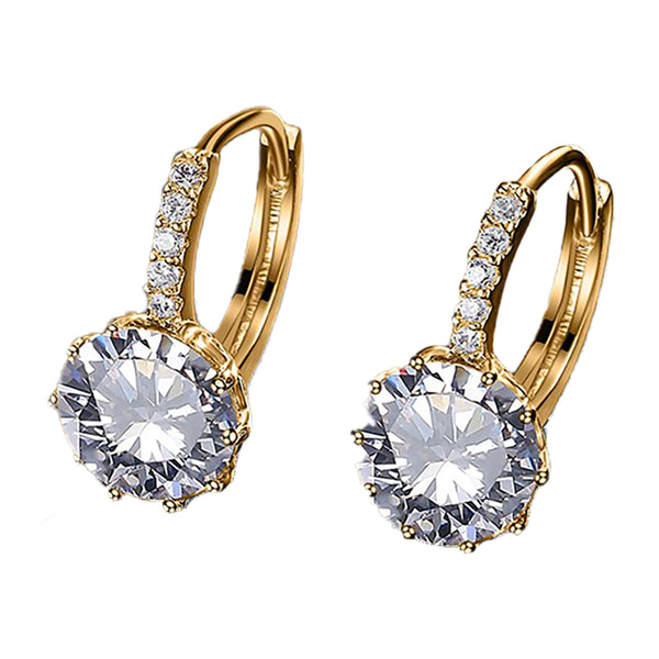 April Crystal Short Drop Earrings