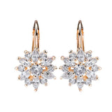 Joy Flower Crystal Cluster Earrings