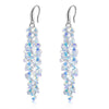 Eliza Crystal Cluster Drop Earrings