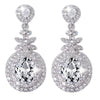 Summer Clear Crystal Elegant Drop Earrings