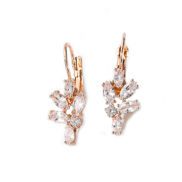 Flora Crystal Cluster Earrings