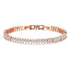 Anika Crystal Leaf Bracelet Rose Gold