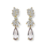 Georgia Crystal & Yellow Gold Drop Earrings