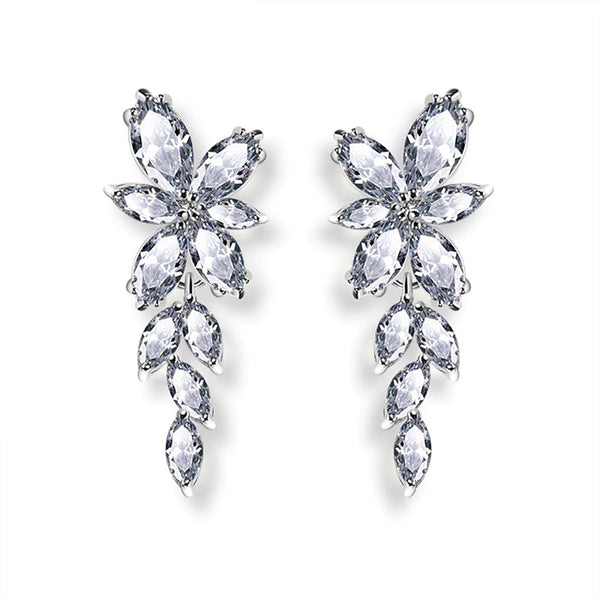 Lucia Clear Crystal Drop Earrings