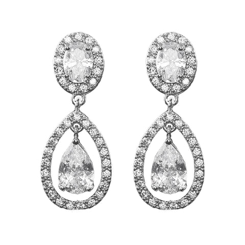 Antonia Crystal Tear Drop Earrings