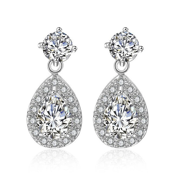 Daphne Crystal Drop Earrings