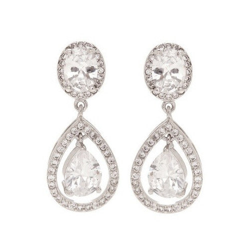 Mckenzie Swarovski Tear Drop Earrings - Bella Krystal