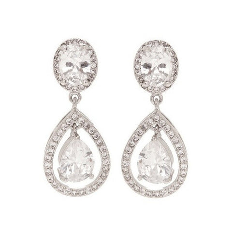 McKenzie Crystal Tear Drop Earrings - Bella Krystal