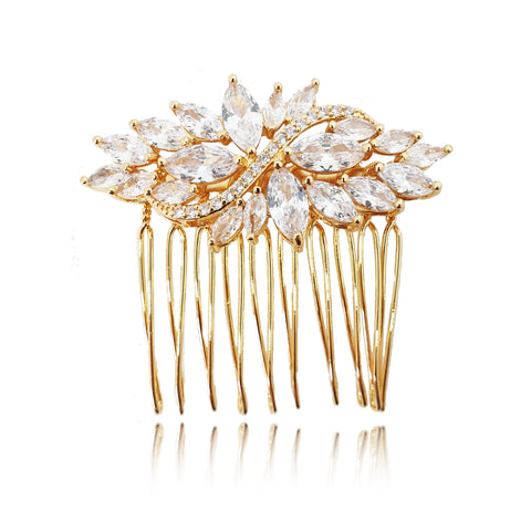 Fiona Petite Gold Hair Comb