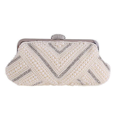 Irene Crystal and Pearl Clutch
