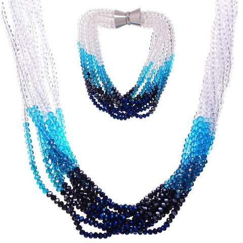 Haley Crystal Ombre Twist Set - Bella Krystal