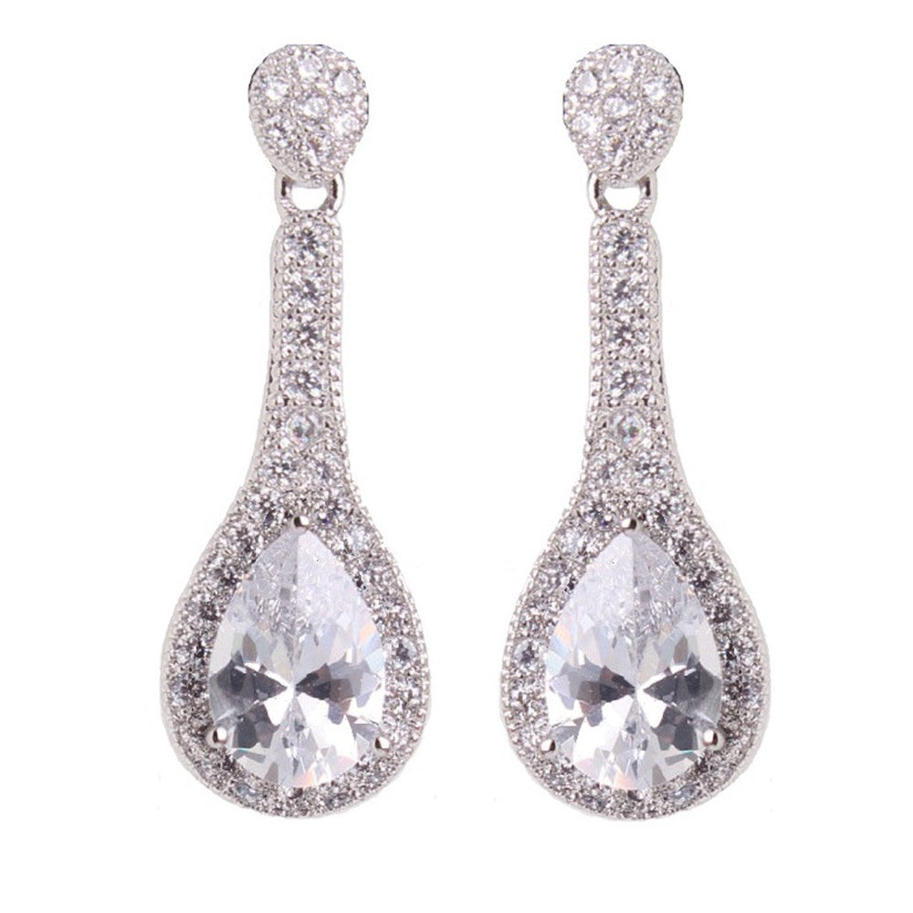 Buy Daisy Clear Crystal Drop Earrings Online – Bella Krystal be20be1ad5
