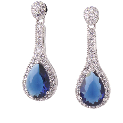 Aubree Crystal Drop Earrings