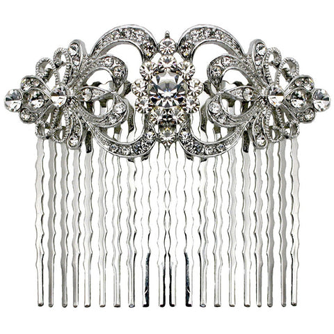 Jennifer Crystal Vintage Hair Comb - Bella Krystal