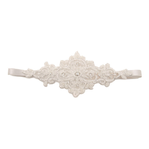 Reagan Vintage Lace Stretchy Hair Band - Bella Krystal