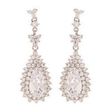Juliana Crystal Princess Tear Drop Earrings - Bella Krystal