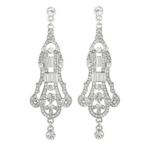 Jacqueline Crystal Gatsby Earrings - Bella Krystal