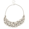 Addison Crystal & Pearl Cluster Necklace