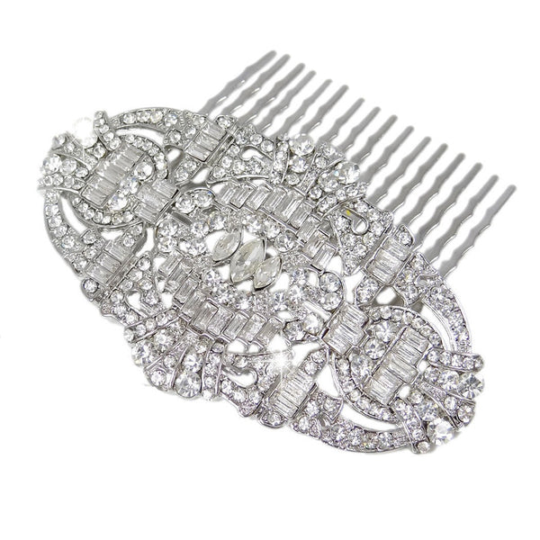 Liliana Great Gatsby Inspired Crystal Hair Comb - Bella Krystal