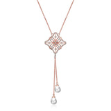 Agata Crystal & Pearl Tassel Necklace