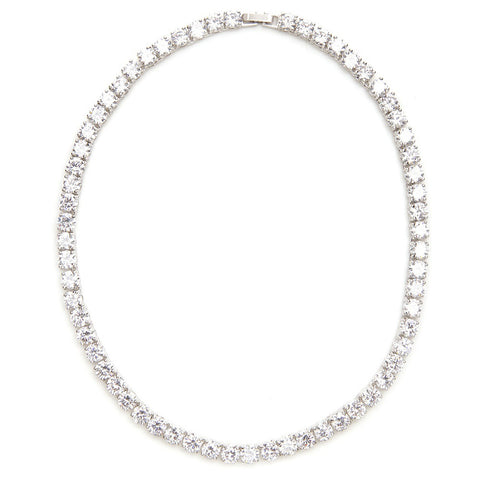 Alyssa Swarovski Tennis Necklace - Bella Krystal