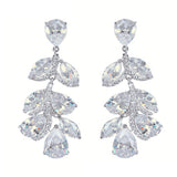 Hope Crystal Leaf Elegant Earrings - Bella Krystal