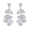 Hope Crystal Leaf Elegant Earrings