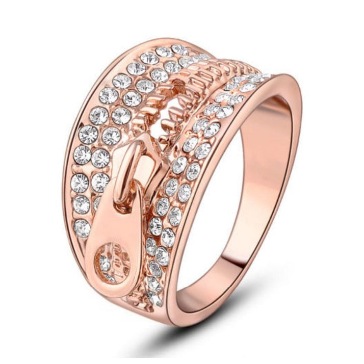 Swarovski Zipper Ring - Bella Krystal