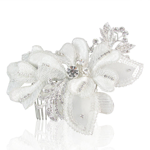 Isabelle Lace & Crystal Vintage Hair Comb