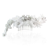 Jenny Soft Lace & Crystal Hair Piece - Bella Krystal