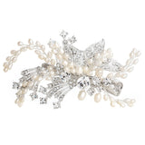 Allison Fresh Water Pearl & Crystal Hair Comb - Bella Krystal