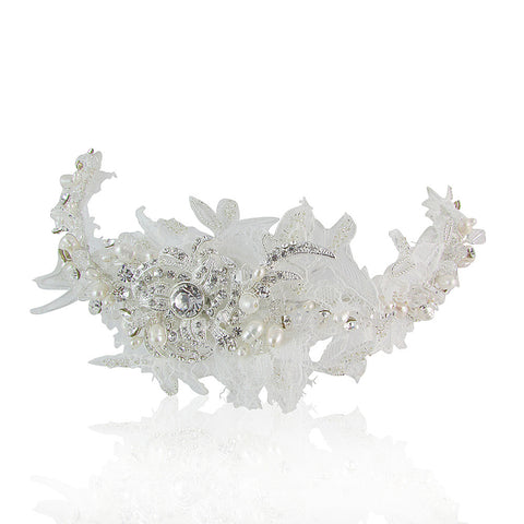 Ryleigh Lace, Fresh Water Pearl & Crystal Hair Comb - Bella Krystal