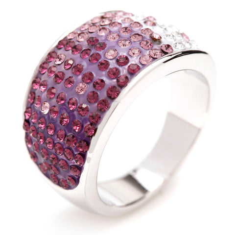 Purple Crystal Dress Ring - Bella Krystal
