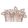 Esme Rose Gold Crystal Hair Comb