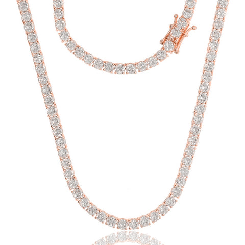 Vicki Crystal Tennis Necklace in 3mm, 4mm & 5mm