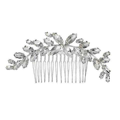Talia Crystal Leaf Hair Comb