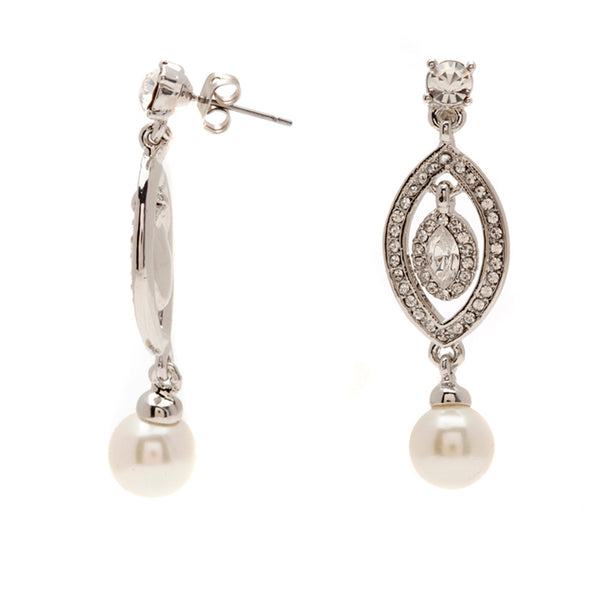 Mya Crystal Elegant Drop Earrings - Bella Krystal