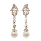 Nevaeh Elegant Chandelier Cream Pearl Drop Earrings - Bella Krystal