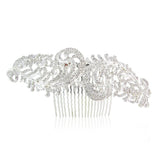 Katelyn Crystal Leaf Hair Comb - Bella Krystal
