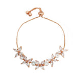 Lara Crystal Flower Adjustable Bracelet