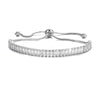 Cynthia Adjustable Crystal Tennis Bracelet in White Gold