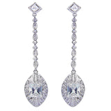 Cassidy Crystal Princess Drop Earrings - Bella Krystal